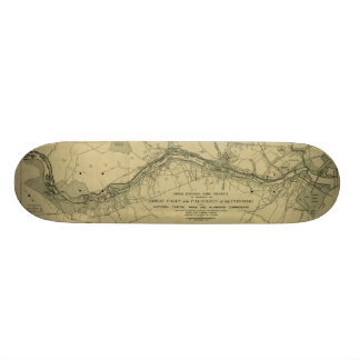 Map of the Great Falls Park (1928) Skateboard