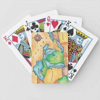 Map of the Great Lakes Bicycle Playing Cards