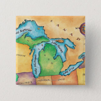 Map of the Great Lakes Button