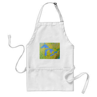 Map of The Great Lakes Design Adult Apron