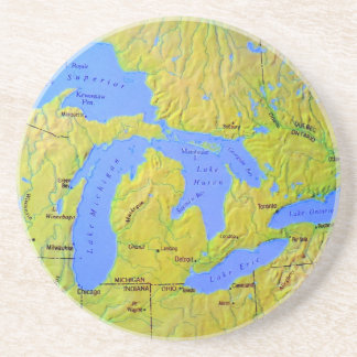 Map of The Great Lakes Design Coasters