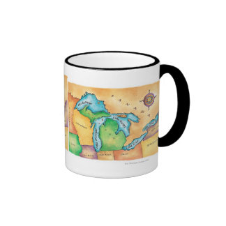 Map of the Great Lakes Mug