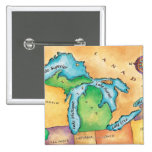 Map of the Great Lakes Pins