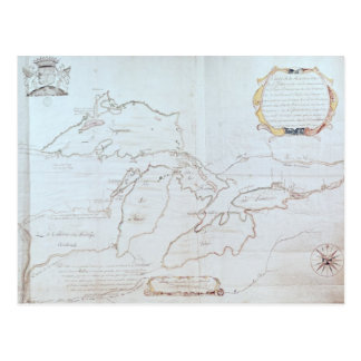 Map of the Great Lakes Post Cards