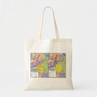Map of the Great Northern War 1700-1721 Tote Bag