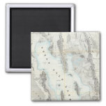 Map of the Great Salt Lake 2 Inch Square Magnet