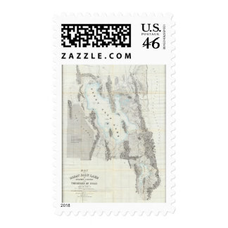Map of the Great Salt Lake Postage Stamp
