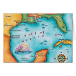 Map of the Gulf of Mexico Card