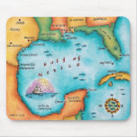 Map of the Gulf of Mexico Mouse Pad