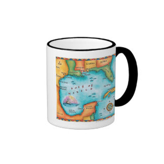 Map of the Gulf of Mexico Mugs