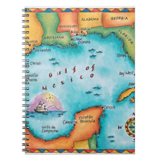 Map of the Gulf of Mexico Notebook
