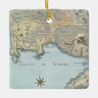 Map of the Gulf of Naples and Surrounding Area Ceramic Ornament