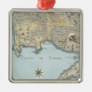 Map of the Gulf of Naples and Surrounding Area Metal Ornament