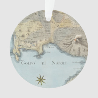 Map of the Gulf of Naples and Surrounding Area Ornament