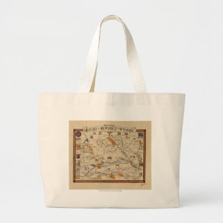 Map of the History and Romance of Wyoming Jumbo Tote Bag