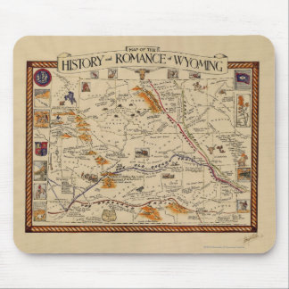 Map of the History and Romance of Wyoming Mouse Pad