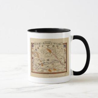 Map of the History and Romance of Wyoming Mug