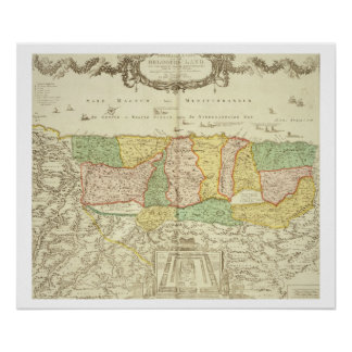 Map of the Holy Land, pub. by Jan Barend Elwe, Ams Poster