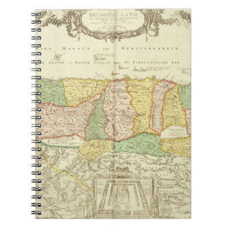 Map of the Holy Land, pub. by Jan Barend Elwe, Ams Spiral Notebook