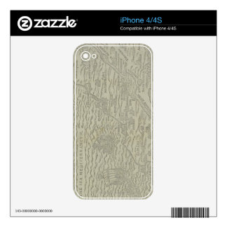 Map of the Holy Land Skins For iPhone 4S