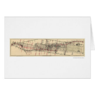 Map of the Hotels and Theatres in Manhattan 1906 Greeting Card