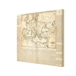 Map of the Incursions of the Barbarians Stretched Canvas Prints