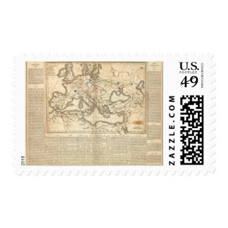 Map of the Incursions of the Barbarians Stamps