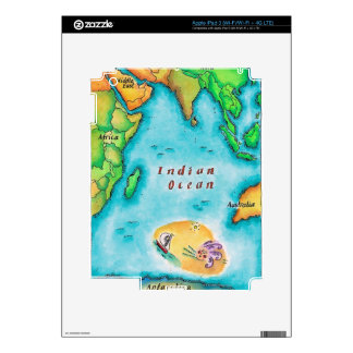 Map of the Indian Ocean Decal For iPad 3