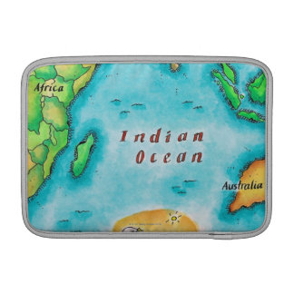 Map of the Indian Ocean Sleeve For MacBook Air
