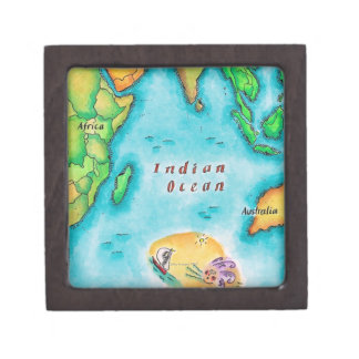Map of the Indian Ocean Jewelry Box