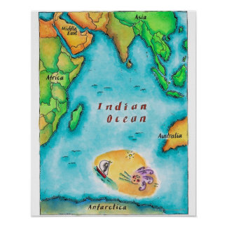 Map of the Indian Ocean Poster