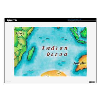 Map of the Indian Ocean Laptop Skins