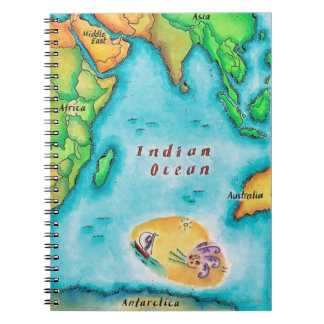 Map of the Indian Ocean Spiral Notebook