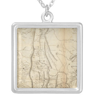 Map of The Internal Provinces of New Spain Silver Plated Necklace