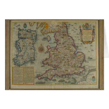 Map of The Invasions of England & Ireland Card