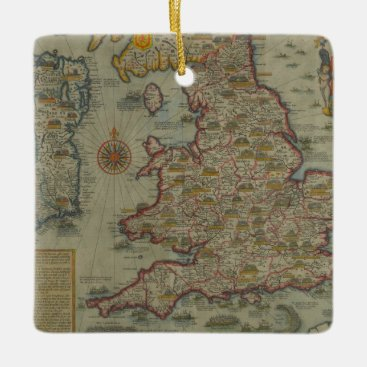 Map of The Invasions of England & Ireland Ceramic Ornament