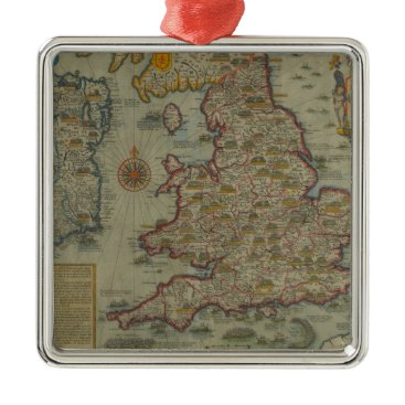 Map of The Invasions of England & Ireland Metal Ornament