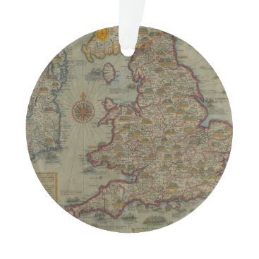 Map of The Invasions of England & Ireland Ornament