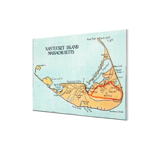 Map of the Island Canvas Prints