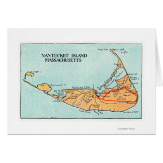 Map of the Island Card