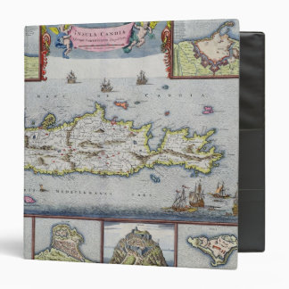 Map of the Island of Candia Vinyl Binders