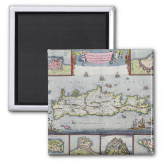 Map of the Island of Candia Fridge Magnets