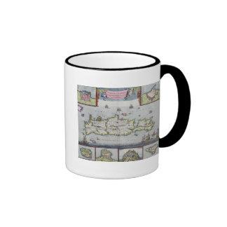 Map of the Island of Candia Coffee Mugs
