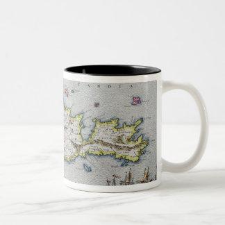 Map of the Island of Candia Two-Tone Coffee Mug