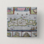 Map of the Island of Candia Pinback Button