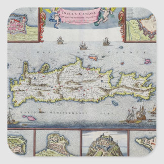 Map of the Island of Candia Sticker