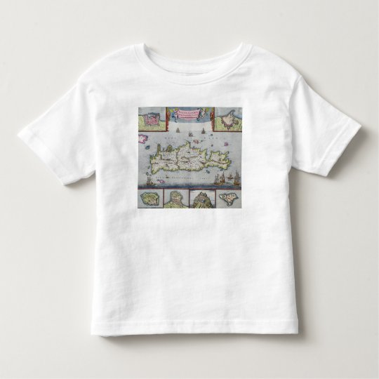 Map of the Island of Candia Toddler T-shirt