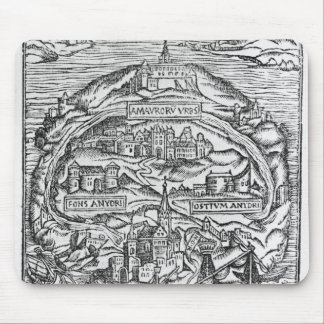Map of the Island of Utopia, Book frontispiece Mouse Pad