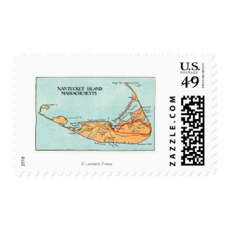 Map of the Island Postage