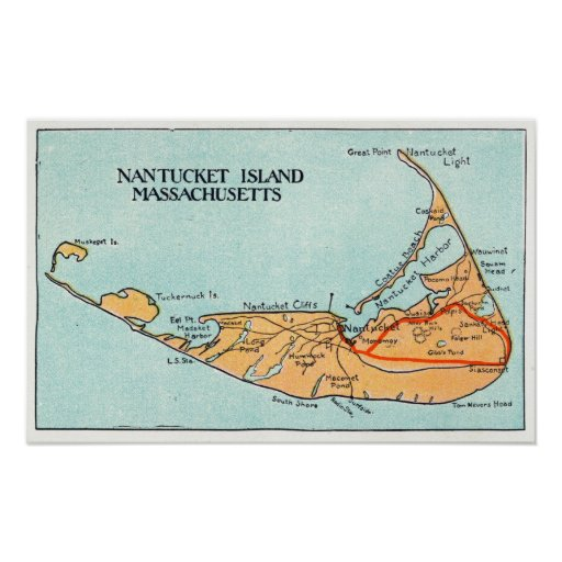 Map of the Island Poster